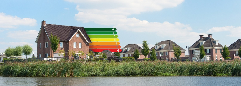 Huis met energie label,s